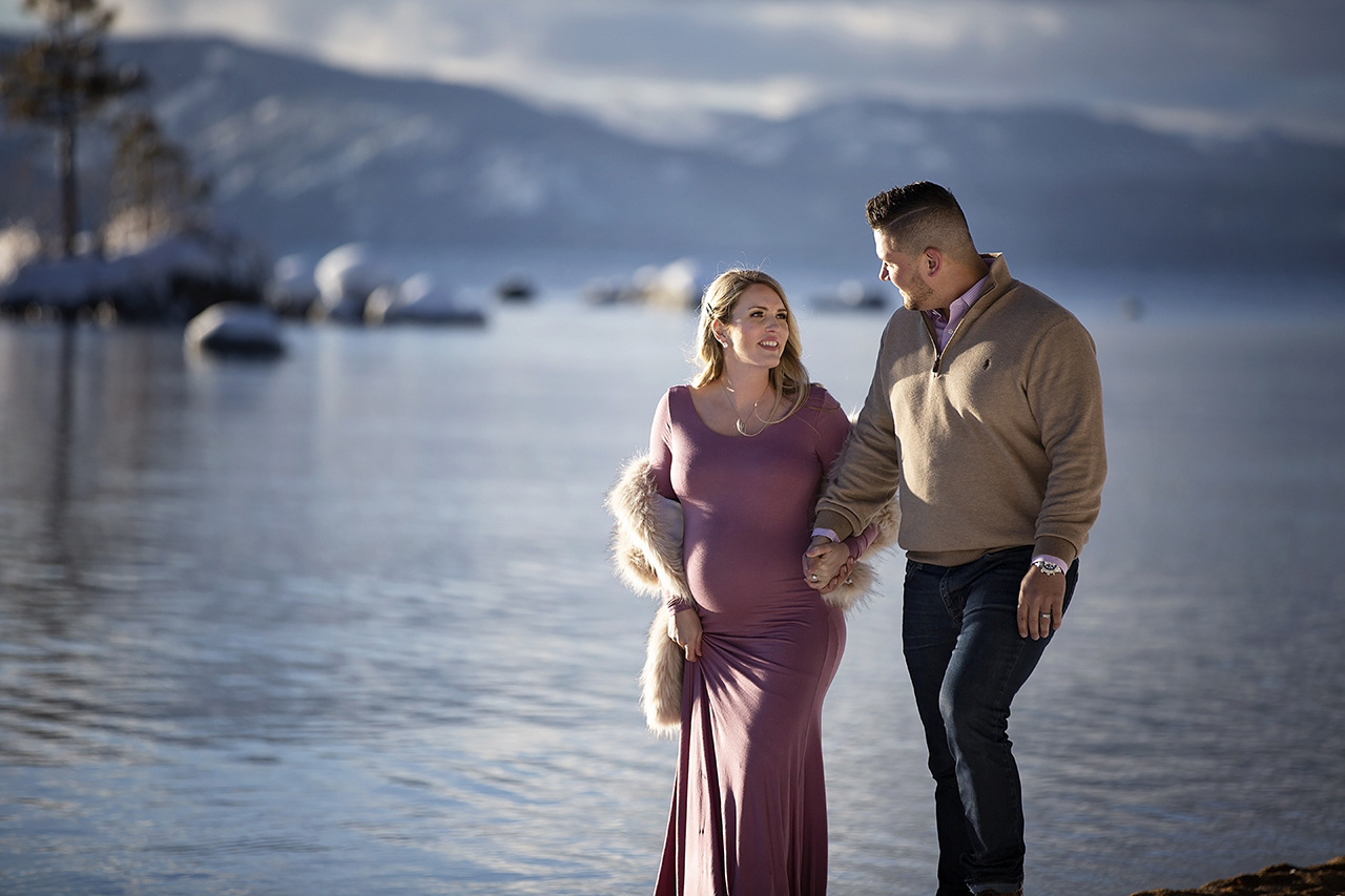 Zephyr cove lake tahoe maternity photos 11