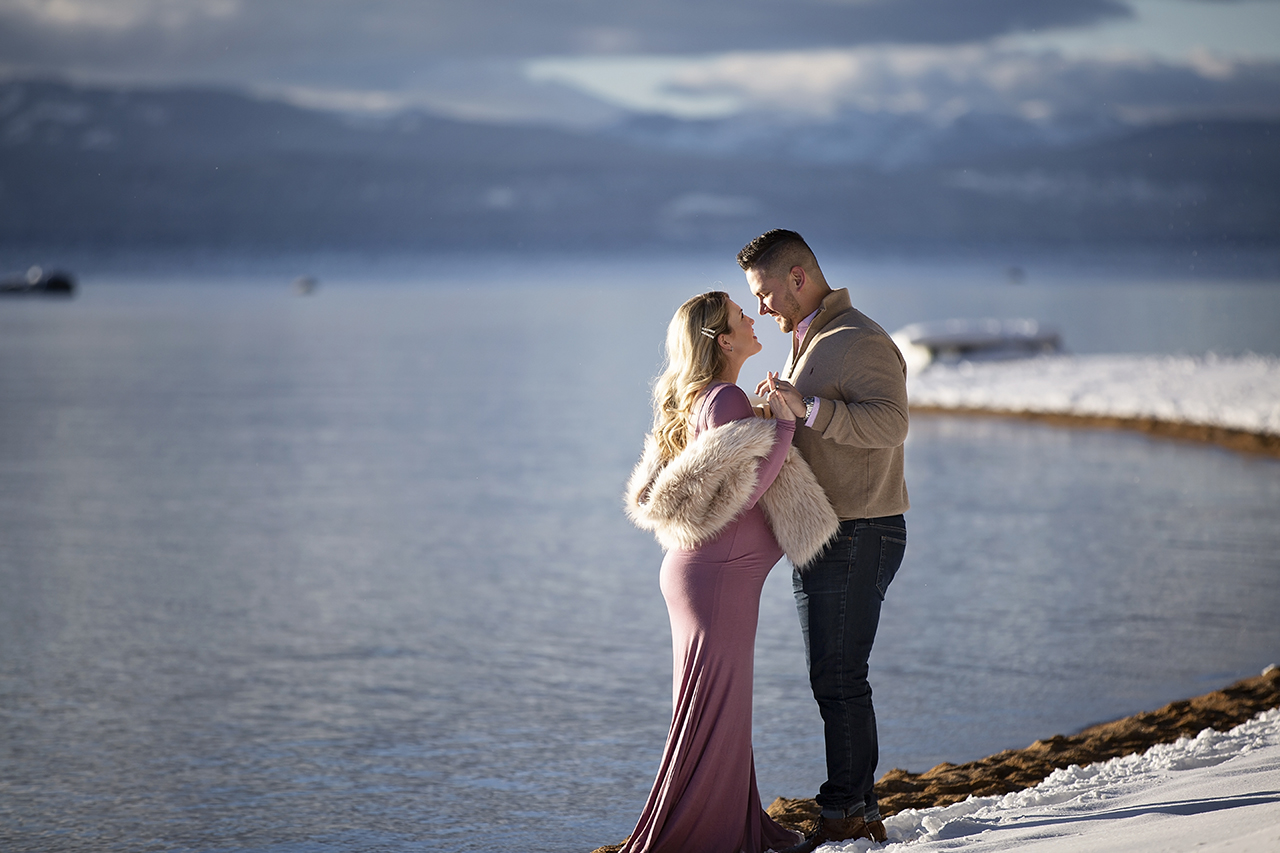 Zephyr cove lake tahoe maternity photos 5