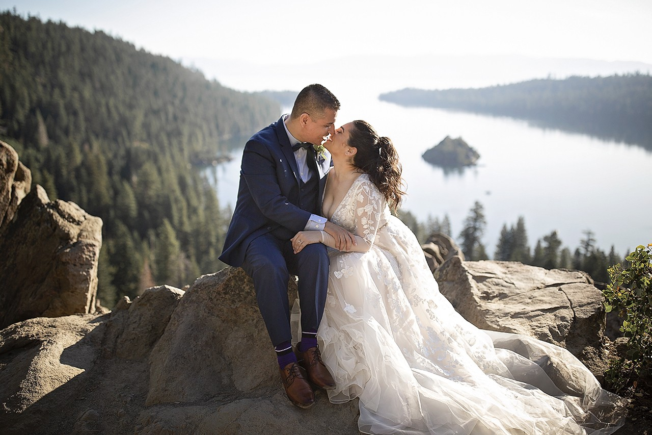 Wedding in Lake Tahoe at Emerald Bay