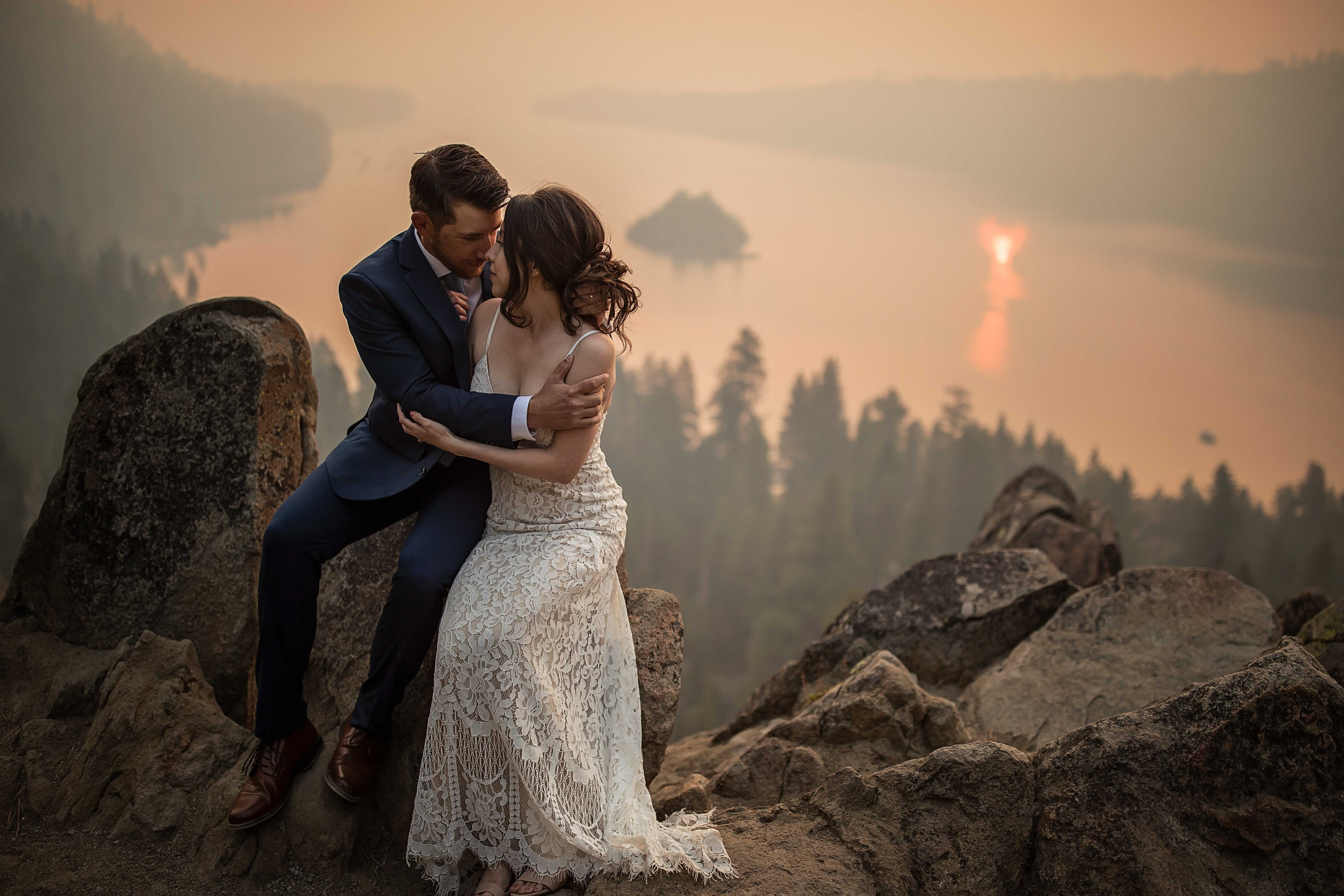Elopement wedding at Emerald Bay